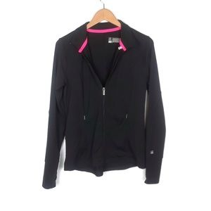 VS Sport | black zip up athletic longsleeve jacket
